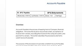 accounts payable policies and procedures