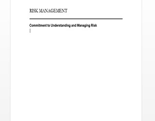 risk management manual cover page