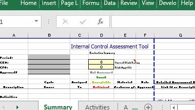 Internal Control Assessment and Evaluation Tool in Excel.